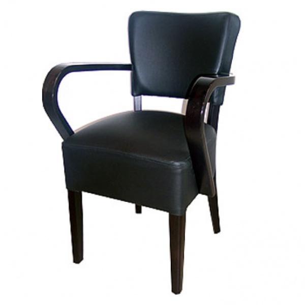 Houten stoel met armleuning for Stoel met armleuning