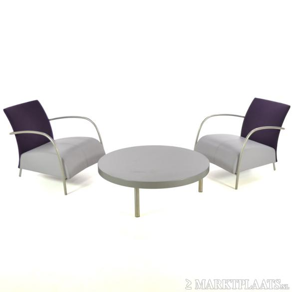 Montis lomas 2 design fauteuil incl tafel grijs for Tweedehands design fauteuil