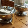 Te koop 4 Sunnex RVS Chafing dishes, rond