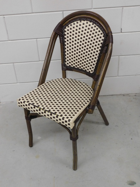11 kunststof rotan stoelen zonder armleuning   HorecaMarktplein nl
