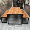 Diverse industriële (terras) tafel, stoel, bank, bartafel
