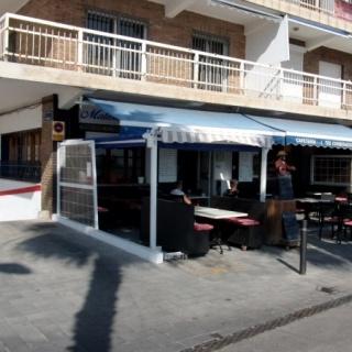 A-locatie aan het centrale strand van Villajoyosa Costa Blanca Spanje